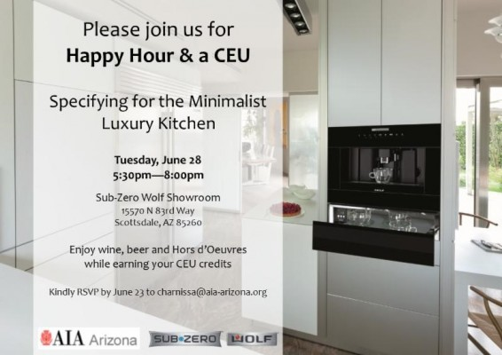 Sub-Zero CEU & Happy Hour Flyer