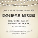 AIA SAC Holiday Mixer Flyer