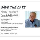 Peter Bohlin Lecture Save the Date Flyer